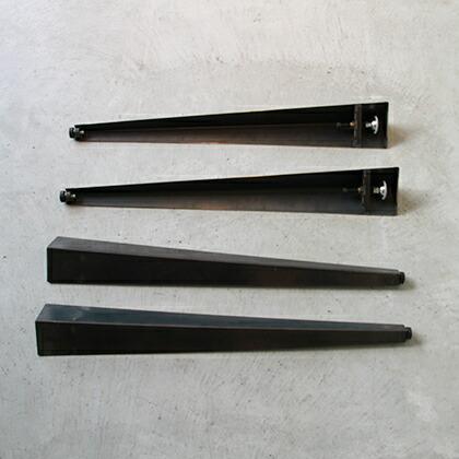 テーブル用アイアン脚クランプタイプ(4本セット) 黒 脚の長さ710mm