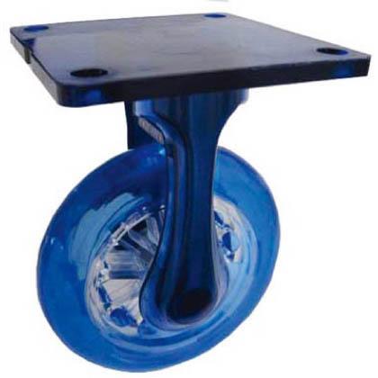 イースタン 樹脂製デザインキャスターΦ100固定式(ブルー) CAR KB-PBU100