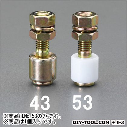 ガイドレール用ボルト付ガイドローラー(樹脂ローラー)  3号 EA970BF-53