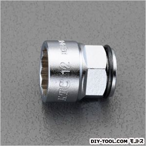 14mmx12mmラチェットメガネレンチ用ソケット  S:12mm、D:17mm、L:19mm、H:7.5mm、d:9mm EA618PH-12