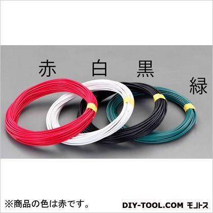 【送料無料】エスコ(esco) 8mm2x20mIV電線(撚線) 赤 EA940AT-161