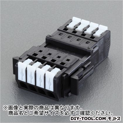 エスコ/esco 2極[DC300V/10A]スクリューレス端子台 奥行50.5×高さ15.5mm EA940DM-102
