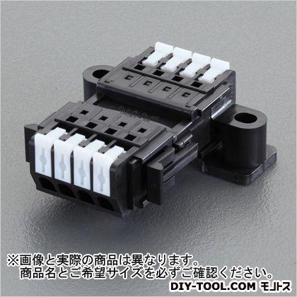 エスコ/esco 2極[DC300V/10A]スクリューレス端子台 奥行50.5×高さ20.4mm EA940DM-112