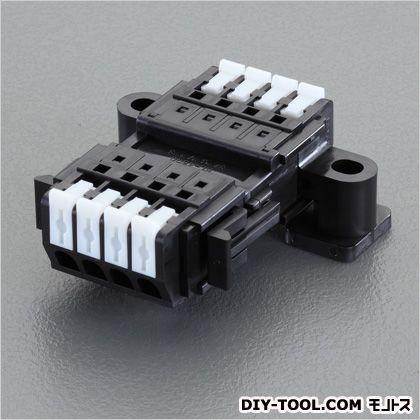 エスコ/esco 4極[DC300V/10A]スクリューレス端子台 奥行50.5×高さ20.4mm EA940DM-114
