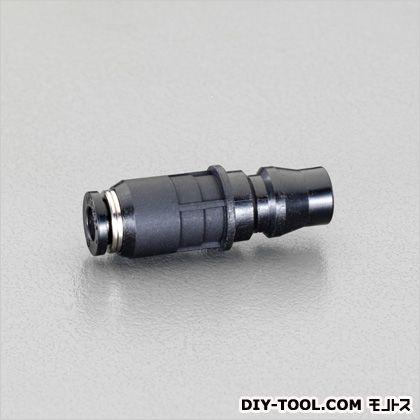 エスコ/esco 8mmワンタッチ型プラグ(20型) 黒 EA425NC-8