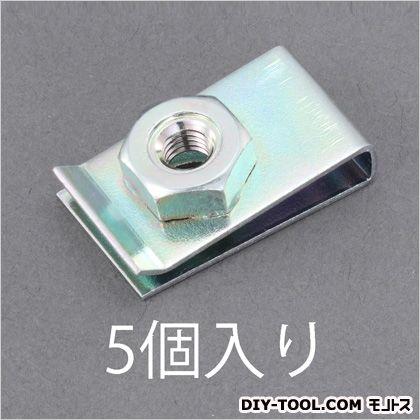 M5/26x15mmクリップナット  A:26mm、B:15mm、C:10.5mm、D:4.5mm EA949GS-105 5 個