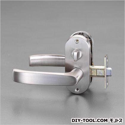 エスコ/esco レバーハンドル(表示錠) ニッケル(シルバー) 29-45mm/50mm EA951KC-43