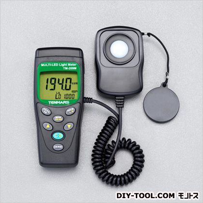 【送料無料】エスコ(esco) LED照度計 本体:55(W)×38(D)×130(H)mm センサー:55(W)×25(D)×80(H)mm コード長:1m E
