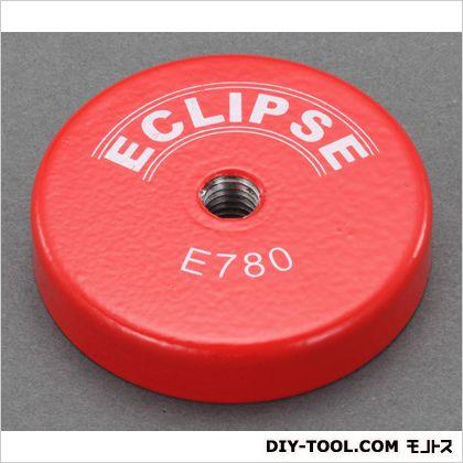 直径50x10mm強力マグネット(ねじ穴付) 赤 φ50×10mm EA781EH-31