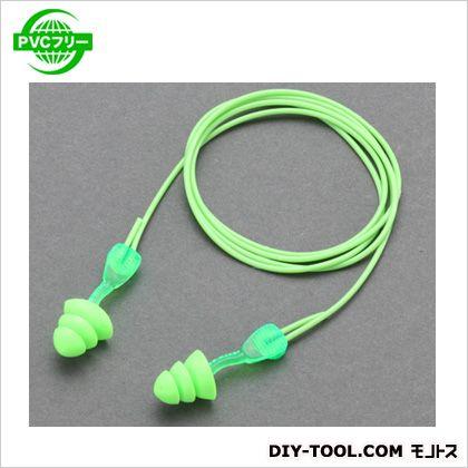 耳栓(ツイストイン型) 明るいグリーン  EA800VM-31 1 ペア