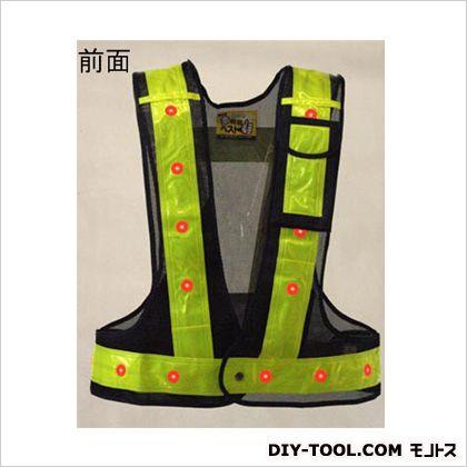 【送料無料】エスコ(esco) LED安全ベスト 紺/黄 フリー 着丈:最大約58cm 胴回り:最大約130cm、最小約100cm (マジックテープの止め方により多少の誤差があります) EA983R-73