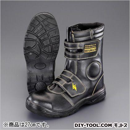 【送料無料】エスコ(esco) 27.0cm静電安全靴(ロング/黒) 27cm EA998YH-27