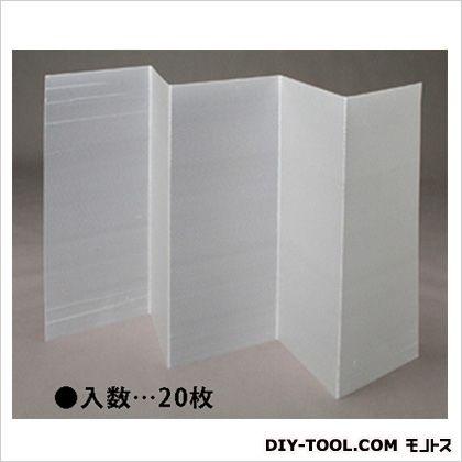 1820x910x2.5mm折畳式養生プラダン ナチュラル 910×1820mm 折りたたみ時:368×910×125mm EA911BE-25 20 枚