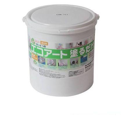 エコアート塗るだけ珪藻土(内装専用塗り壁材) フローラルホワイト 18kg EAN711