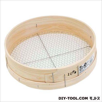 千吉 木製砂フルイ(丸型)10.0MM(キッコウメ) 35cm