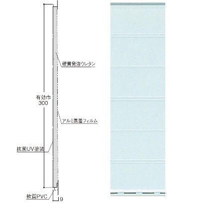 浴室・水廻り用 天井・壁面パネル バスパネルEX 2坪セット ペイルブルー L=2000、巾300mm EX-PB 1 セット