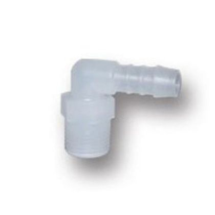 PP製樹脂ホースコネクターエルボ(WPS)  ネジ(R):1/4 WPS-0206
