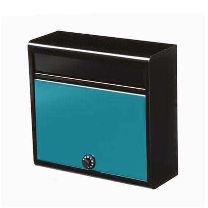 【送料無料】グリーンライフ 家庭用郵便ポスト(ダイヤル錠付) 本体:マッドブラック、取出口:グリーン FH-614D(MB/GR) メールボックス 鍵付き 1個