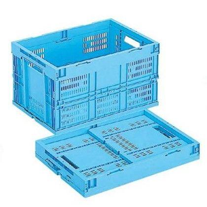 【送料無料】岐阜プラスチック工業 折りたたみコンテナー ブルー CB-M50W B
