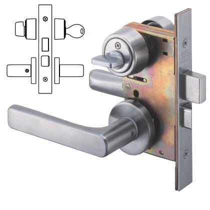 レバーハンドル錠 玄関錠 シリンダー/サムターン HL  P-LX-5-NU-11S DT33-43 BS64