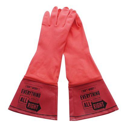 ゲンダイヒャッカ WASHERS ラバーグローブ RED レディースフリーサイズ A100RD