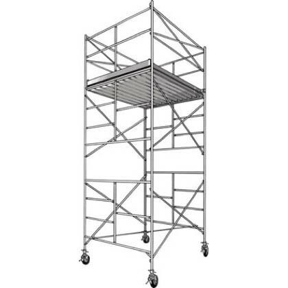 ハセガワアルミ製ローリングタワーBMA型2段  全高(m):4.25 BMA-2段