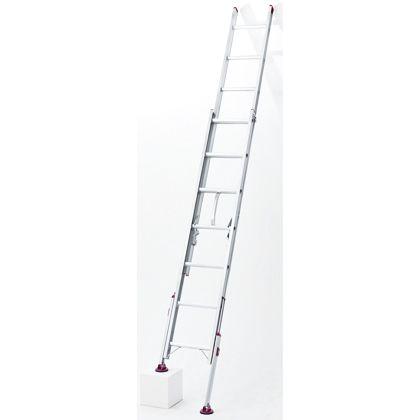 長谷川工業 ハセガワ脚部伸縮式2連はしごノビ型 シルバー LSK2 1.0-61