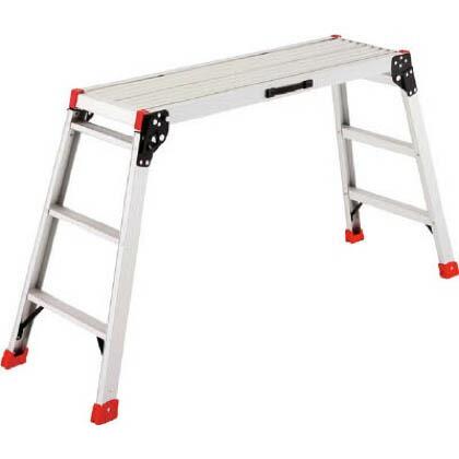 ハセガワアルミ製足場台 シルバー 設置寸法;高さ:17×幅:39×奥行:73cm DRX2.0-0752