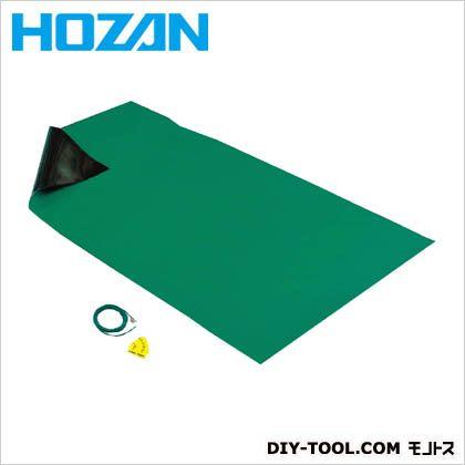 HOZAN導電性カラ-マット1×1.8Mグリーン補強繊維入り  サイズ:1000×1800mm F-757