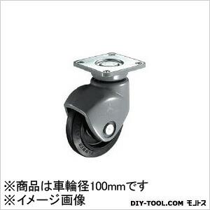 静音樹脂製S型自在ゴム車B入り100mm   400P0S-FR100-BAR01