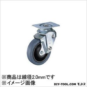 【送料無料】ハンマー クッションキャスター自在ゴム車100mm線径2.0mm 129 x 68 x 144 mm 940BBEFR10020BAR01
