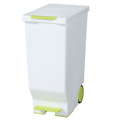 ごみ箱スライドペダルペール45L グリーン 約幅26×奥行44.5×高さ58(cm) 247872
