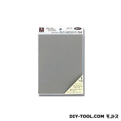 エラストマーゴム グレー 1mm×200×150 PEG3-31  0