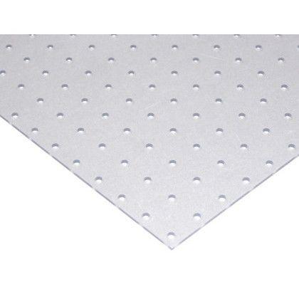 樹脂製パンチングボード 透明 H×W×D:約600×420×3mm(外寸) PGEB426-1