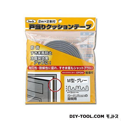 M型戸当り防音テープ グレー 4×9×2M KMG50-200  0