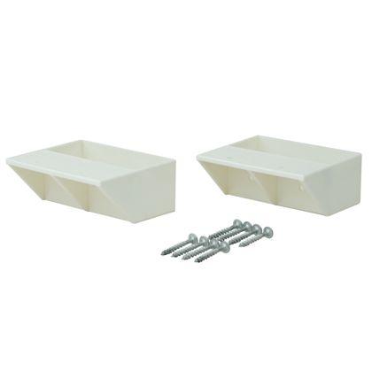 2×4材用棚受 シングル オフホワイト  DXO-2 2 個入