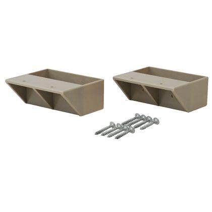 2×4材用棚受 シングル ナチュラルグレージュ(限定色)  DXN-2 2 個入