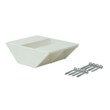 2×4材用棚受 ダブル オフホワイト  DXO-3