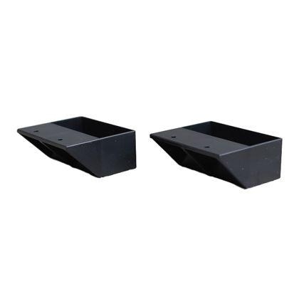 2×4材用棚受 シングル マットブラック(限定色)  DXK-2 2 個入