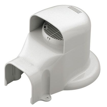 配管化粧カバー ウォールコーナー エアコンキャップ/換気エアコン用(φ153以下)  16.1cm SWX77L-W