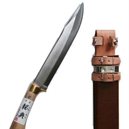 安来鋼付山鉈片刃ツバ付完全包装  240mm C-30