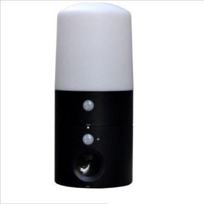 【送料無料】インテリムジャパン アニマルバリアミニLEDセンサーライト付 ブラック 高さ270幅124奥行124mm IJ-ANB-05-LED