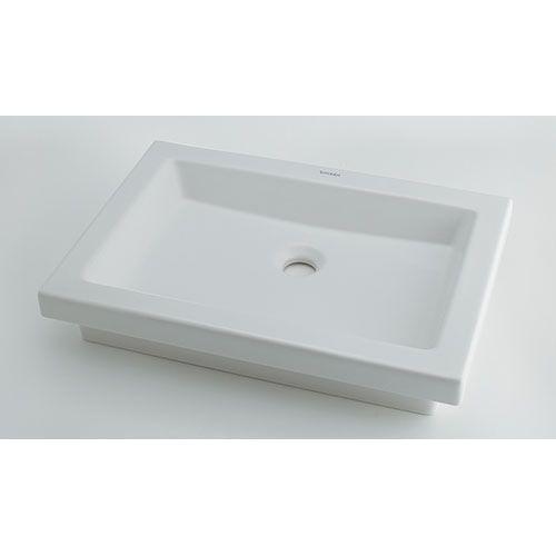 角型洗面器 白(ホワイト) 呼46・横580・縦415 #DU-0317580029 1