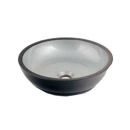 【送料無料】暁(あかつき) 丸型手洗器 銀砂 493-068-S