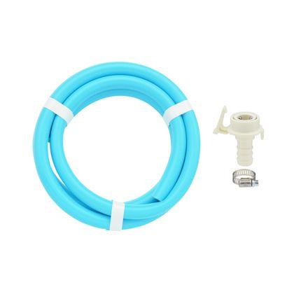 これカモ二槽式洗濯機用給水ホースワンタッチ給水ジョイントセット パステルブルー 1.0m GA-LC020
