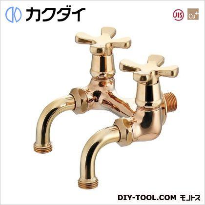 カクダイ/KAKUDAI ガーデン用双口ホーム水栓(レトロ) 705-105-13