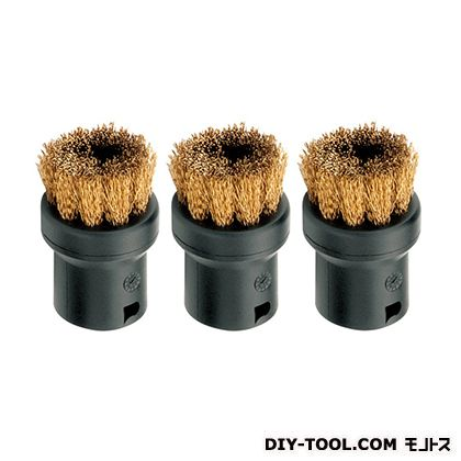 スチームC ブラシ真鍮  1個サイズ:40×27×27mm 2863-061 3 個
