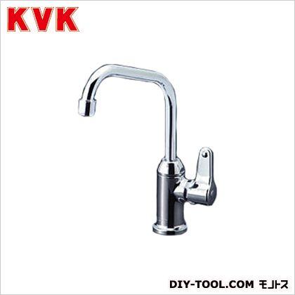 【送料無料】KVK 浄水器接続専用水栓  奥行:173mm K335G  立形自在水栓単水栓