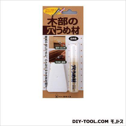 木部の穴うめ材 白木色 W80×L180×H18mm(1パック) M-01
