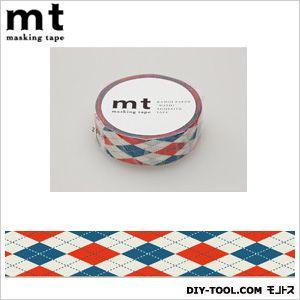 mt1Pアーガイル・レッド  奥行4.8×幅4.8×高さ1.5cm MT01D162